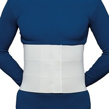 Three-Panel Elastic Abdominal Binder for Men White, Size M