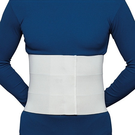OTC Professional Orthopaedic Three-Panel Elastic Abdominal Binder for Men White