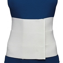 Three-Panel Elastic Abdominal Binder for Women White