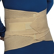 Lumbo-Sacral Support with Abdominal Uplift, Beige 2X-Large
