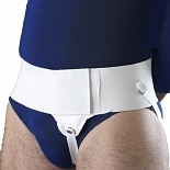 OTC Professional Orthopaedic Hernia Support Single Left White Size L