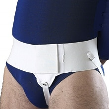 Hernia Support Single Left White, Size L