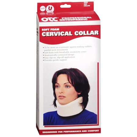 OTC Professional Orthopaedic Soft Foam Cervical Collar White N-U White