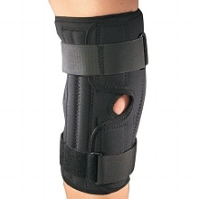 Orthotex Knee Stabilizer Wrap with Spiral Stays Black