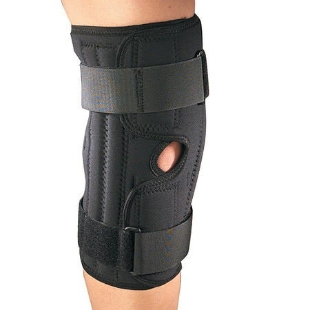 OTC Professional Orthopaedic Orthotex Knee Stabilizer Wrap with Spiral Stays Black