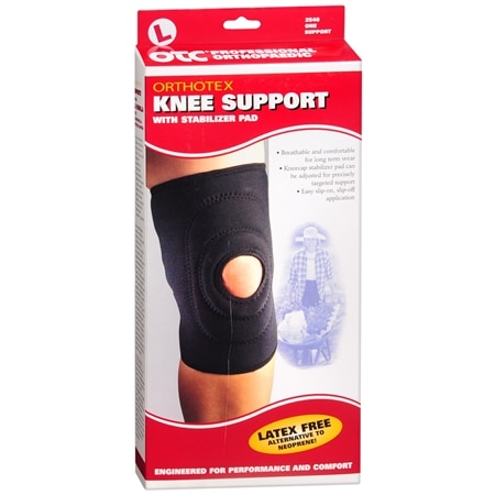 OTC Professional Orthopaedic Knee Support with Stabilizer Pad L Black