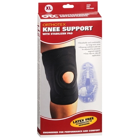OTC Professional Orthopaedic Knee Support with Stabilizer Pad XL Black