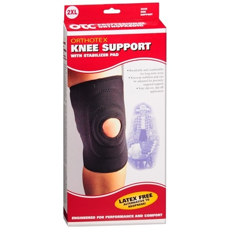 OTC Professional Orthopaedic Knee Support with Stabilizer Pad 2XL Black