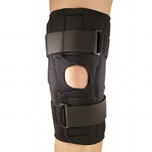 Champion Professional Neoprene Knee Stabilizer Wrap with Hinged Bars Small
