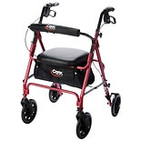 Carex Freedom Roller Walker Burgundy