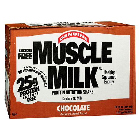 CytoSport Muscle Milk Protein Nutritional Shakes Chocolate,14 oz, 12 pk