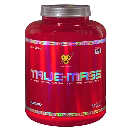 BSN Inc. True-Mass Powdered Mass Gainer Drink Mix Vanilla Ice Cream