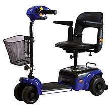 Shoprider Scootie 4-Wheel Mobility Scooter Blue