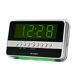 Dual Alarm Clock Radio with Wave Sensor