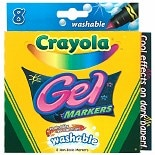 Crayola Washable Gel Markers Assorted Colors