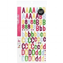 American Crafts Remarks Letter Sticker Book Large Patchwork Multicolor