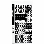American Crafts Remarks Letter Sticker Book Large Patchwork Black
