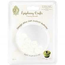Epiphany Crafts Button Studio Self-Adhesive Buttons Round 14
