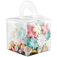 Making Memories 5th Avenue Blossoms & Buttons Box Collection Lemonade