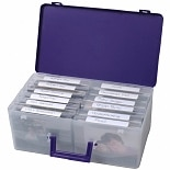 Advantus Cropper Hopper Photo Supply Case Purple