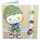 Patchwork Pals Luxury Card Making Kit Billy Blue/Beige