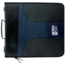 Crop in Style 3-Ring Zippered Binder Navy/Black