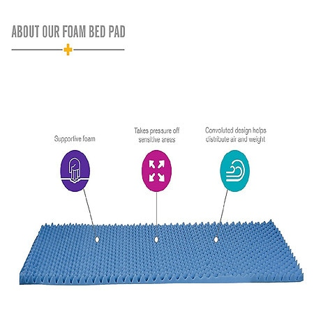 Mabis Healthcare Convoluted Bed Pad