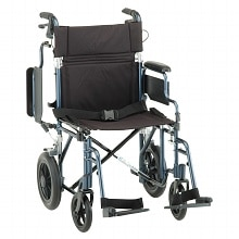 Lightweight 19 inch Transport Chair 352B, Blue