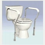 Essential Medical Adjustable Toilet Safety Rails