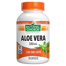 Aloe Vera 500 mg Herbal Supplement Capsules