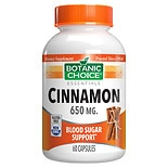 Botanic Choice Cinnamon 650 mg Herbal Supplement Capsules