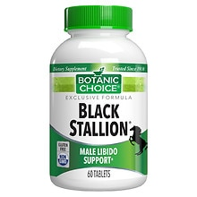Botanic Choice Black Stallion Male Libido Herbal Supplement Tablets