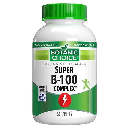 Botanic Choice Super B-100 Complex Dietary Supplement Tablets