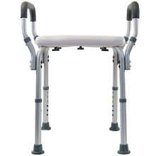 Essential Medical Adjustable Removable Arm Shower Bench without Back
