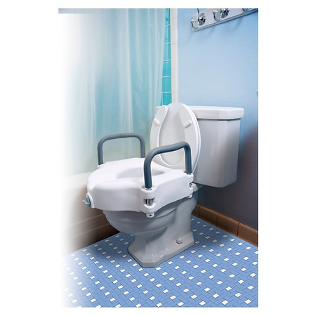 Essential Medical Locking Raised Toilet Seat With Arms