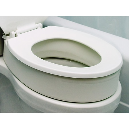 Essential Medical Elongated Toilet Seat Riser