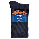 Extra Wide Medical Socks Womens Shoe Sizes 6-11 Navy