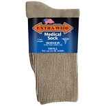 Extra Wide Medical Socks Womens Shoe Sizes 6-11 Tan