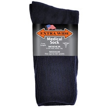 Extra Wide Medical Socks Mens Navy