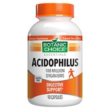 Botanic Choice Acidophilus Dietary Supplement Capsules
