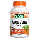 Botanic Choice Aloe Vera 500 mg Herbal Supplement Capsules