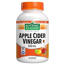 Botanic Choice Apple Cider Vinegar 500 mg Dietary Supplement Capsules
