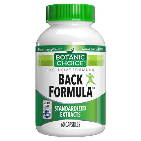 Botanic Choice Back Formula Dietary Supplement Capsules