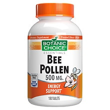 Bee Pollen 500 mg Dietary Supplement Tablets
