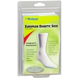 Medicool European Diabetic Comfort Sock Large White
