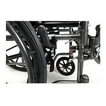 Everest & Jennings Advantage 18 x 16in. Fixed Full Arm Wheelchair, Swingaway Footrest Black