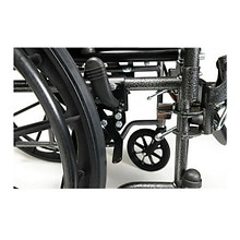 Advantage 18 x 16in. Fixed Full Arm Wheelchair, Swingaway Footrest, Black
