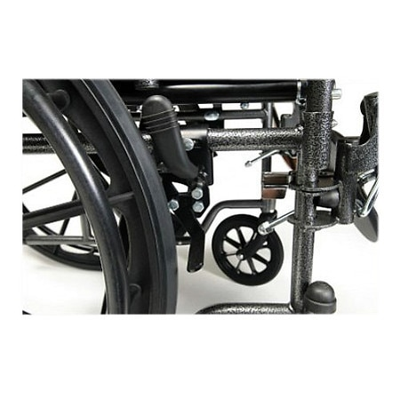 Everest & Jennings Advantage Fixed Full Arm Wheelchair, Swingaway Footrest 18 x 16 Black