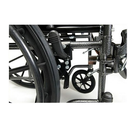 Everest & Jennings Advantage Fixed Full Arm Wheelchair, Elevating Legrest 18 x 16 Black