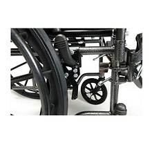 Advantage 20 x 16in. Desk Wheelchair, Swingaway Footrest, Black